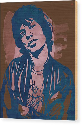 Rock And Roll Music Rolling Stones Wood Prints