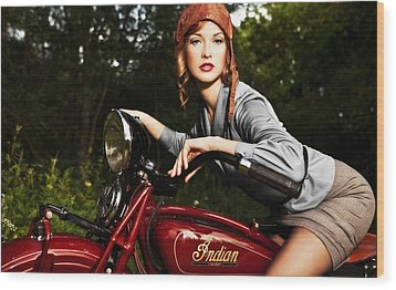 Indian Motorcycle Wood Print