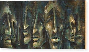 ' Jury Of Eight ' Wood Print by Michael Lang