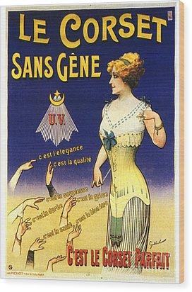 1890s France Womens Underwear Corsets Wood Print by The Advertising Archives