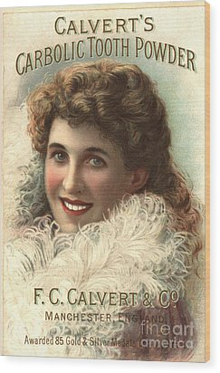 1890s Uk Calvert Toothpaste Wood Print by The Advertising Archives