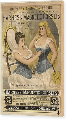 1890s Uk Corsets Girdles Magnetic Wood Print by The Advertising Archives