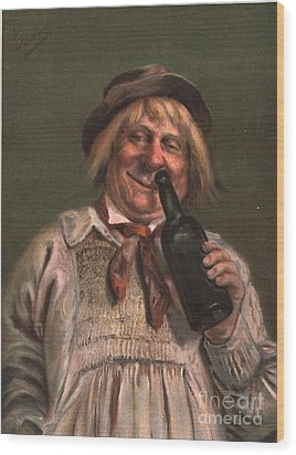 1890s Uk Expressions Smell Drunks Wood Print by The Advertising Archives