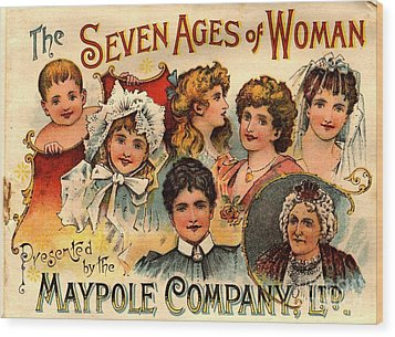 1890s Uk Maypole Ageing The Seven Ages Wood Print by The Advertising Archives
