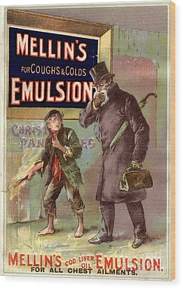 1890s Uk Mellin�s Emulsion Coughs Wood Print by The Advertising Archives