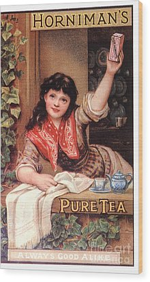 1890s Uk Tea Horniman�s Wood Print by The Advertising Archives