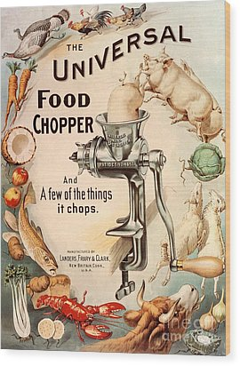 1899 1890s Usa Food Choppers Mincers Wood Print by The Advertising Archives