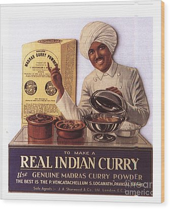 1910s Uk Indian Food Curry Warning - Wood Print by The Advertising Archives