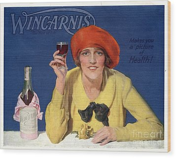 1910s Uk Wincarnis Wine Fortified Wood Print by The Advertising Archives