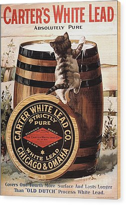 1910s Usa Paint Carters Lead Wood Print by The Advertising Archives