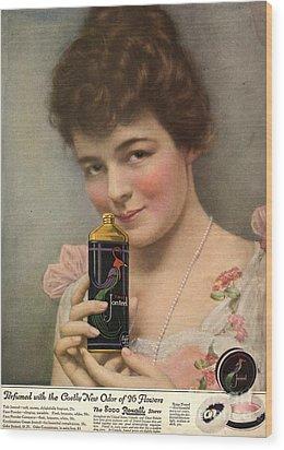 1910s Usa Talc Talcum Powder Jonteel Wood Print by The Advertising Archives