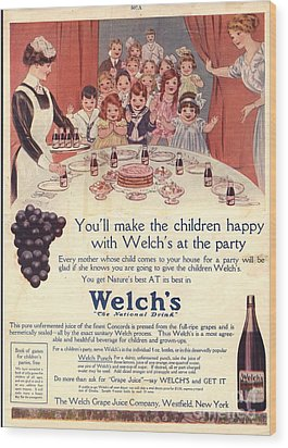 1910s Usa Welchs Juice Children�s Wood Print by The Advertising Archives