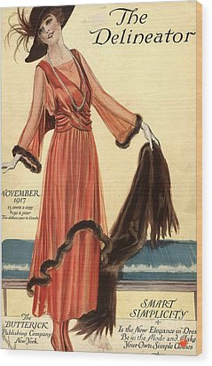 1910s Usa Womens Magazines Clothing Wood Print by The Advertising Archives