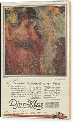 1918 1910s Usa Djer-kiss Talcum Wood Print by The Advertising Archives