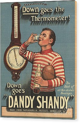 1920s Uk Dandy Shandy Sarsaparilla Wood Print by The Advertising Archives