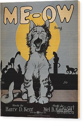 1920s Usa Cats Me-ow Meow Wood Print by The Advertising Archives
