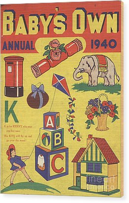 1940 1940s Uk Babies Own Annuals S Wood Print by The Advertising Archives