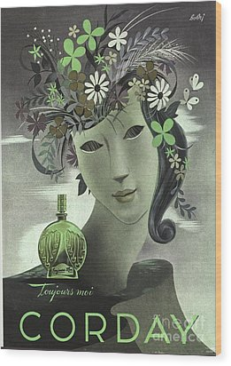 1940s France Corday   Womens Wood Print by The Advertising Archives