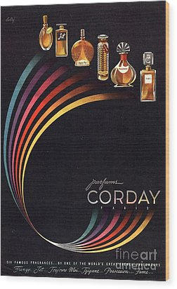 1940s Usa Corday   Womens Wood Print by The Advertising Archives