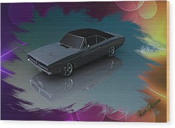 1969 Dodge Charger Wood Print by Louis Ferreira