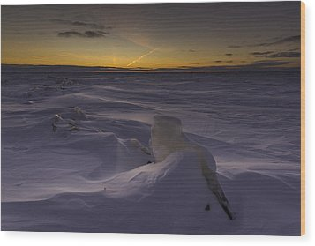 -25 Freezing Sunset Wood Print