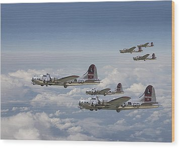 381st Group Outbound Wood Print by Pat Speirs