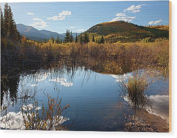 A Reflection Of Fall Wood Print by Jim Garrison