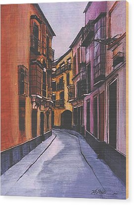 A Street In Seville Spain Wood Print
