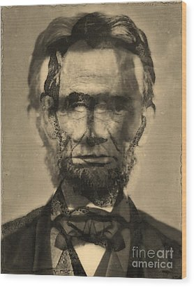 Abraham Lincoln Wood Print by Michael Kulick