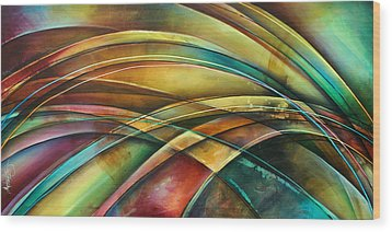 ' Abstract ' L1 Wood Print by Michael Lang