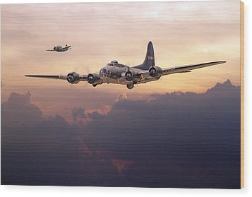 B17- Last Home Wood Print by Pat Speirs