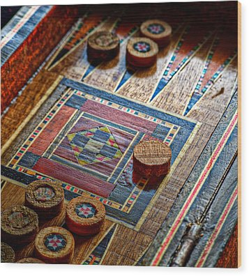 Backgammon Wood Print by Beverly Cash