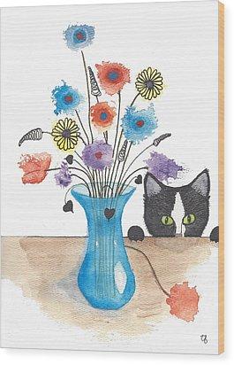 Bad Kitty Wood Print