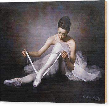 Ballerina 3 Wood Print