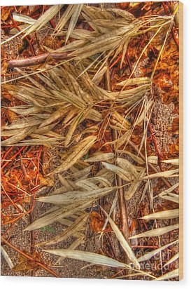 Wood Print featuring the photograph  Bamboo Leaves by Michelle Meenawong