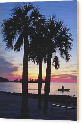 Wood Print featuring the photograph  Beach Sunset by Aimee L Maher Photography and Art Visit ALMGallerydotcom