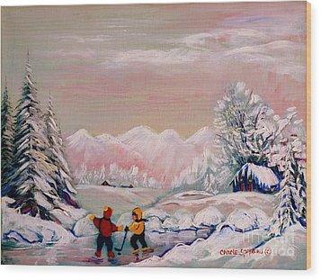 Beautiful Winter Fairytale Wood Print by Carole Spandau