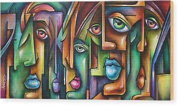 ' Believers ' Wood Print by Michael Lang