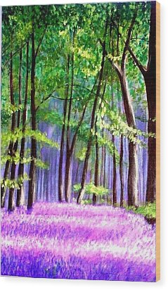 Bluebells Wood  Wood Print