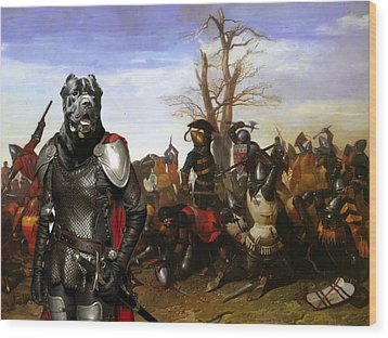 Cane Corso Art Canvas Print - Swords And Bravery Wood Print