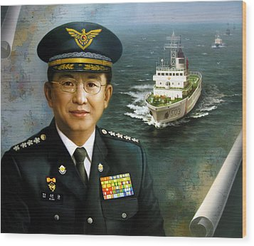 Captain Korea Wood Print