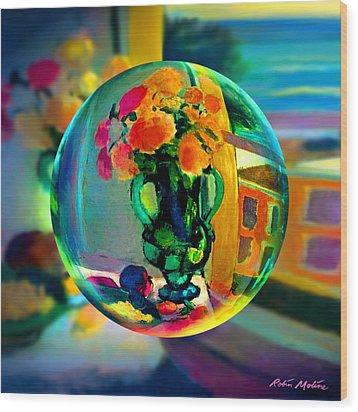 Cercle La Vie En Rose  Wood Print by Robin Moline