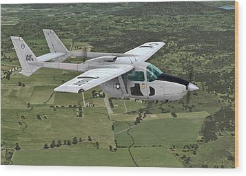Cessna 0-2a Skymaster Wood Print by Walter Colvin