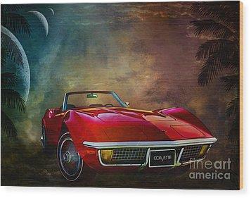 Chevrolet Corvette1972 Wood Print by Andrzej Szczerski