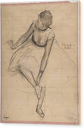 Dancer Adjusting Her Slipper Wood Print