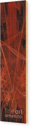 Dancing Flames 1 V - Panorama - Abstract - Fractal Art Wood Print by Andee Design