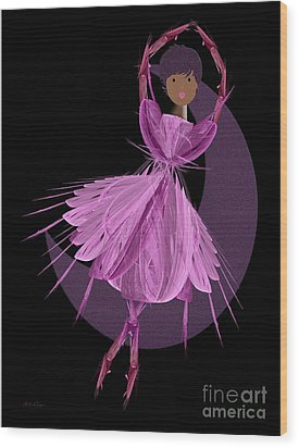 Dancing With The Moon B Wood Print by Andee Design