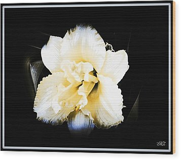 Wood Print featuring the photograph  Daylily by Michelle Frizzell-Thompson