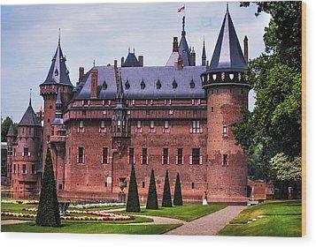 De Haar Castle 4. Utrecht. Netherlands Wood Print by Jenny Rainbow