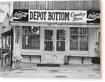 Depot Bottom Country Store Wood Print by   Joe Beasley